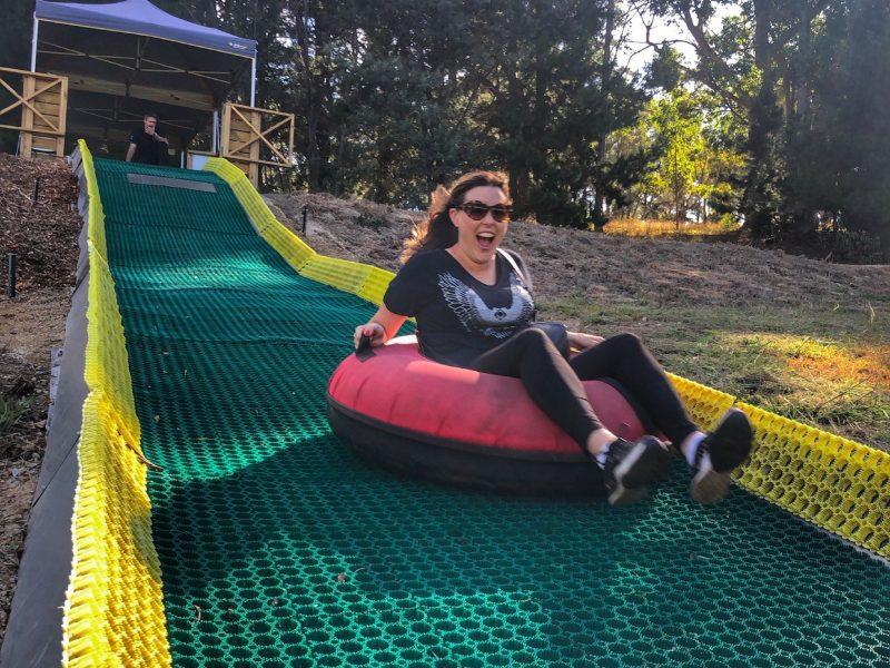 Mum on slide