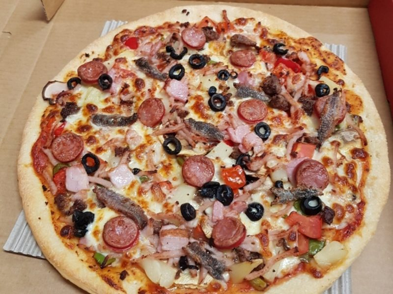 Pizza toppings galore!