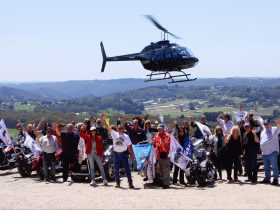 Group photo from last years Variety V2 Motorcycle Run