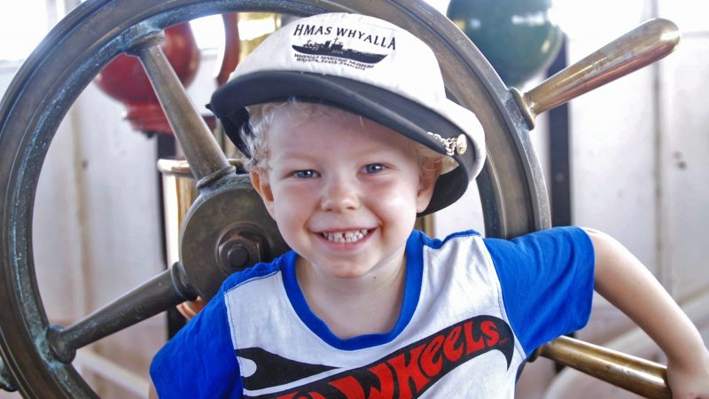 HMAS Whyalla's Youngest Captain - Jaxson