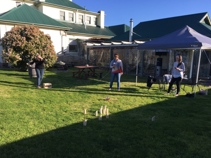 Enjoy a game of Finska on the lawn whilst enjoying our beautiful wines and delicious food