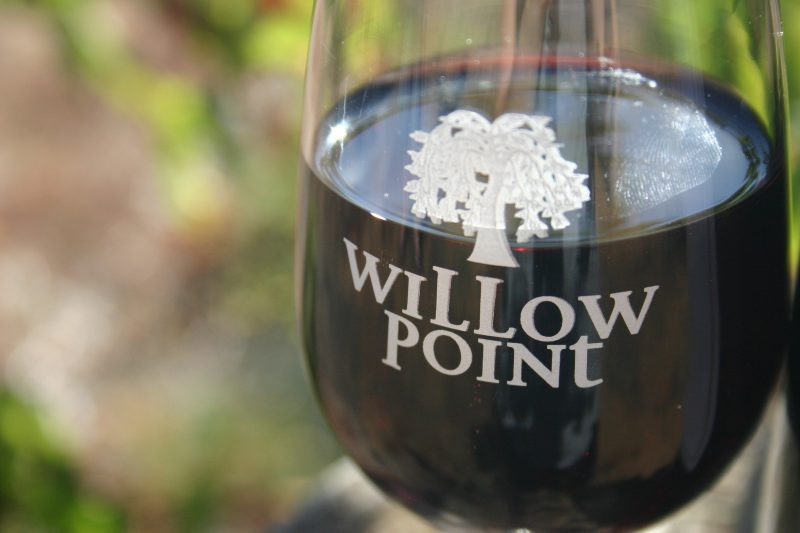 Willow Point Wines Glass of Red