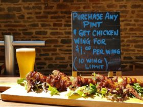 Wing Night at Barossa Valley Brewing, enjoy a pint of beer alongside some chicken wings