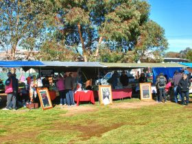 general view of stalls at Wirrabara Producers Market