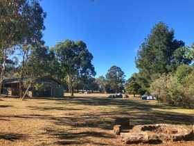 Campsite and amenities block