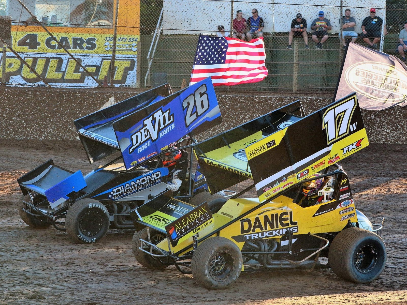 USA vs AUS at last years World Series at Murray Machining & Sheds Speedway