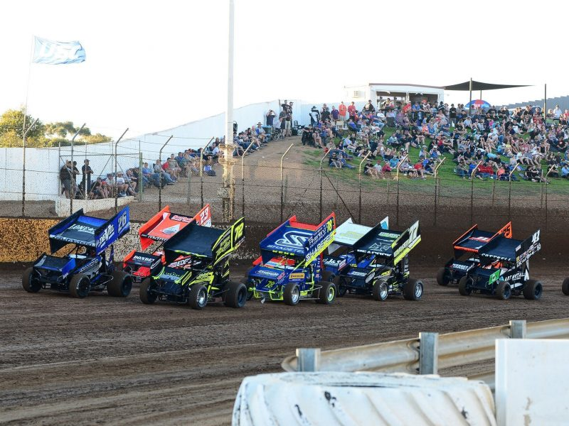 Hot competiton at Murray Machining & Sheds Speedway