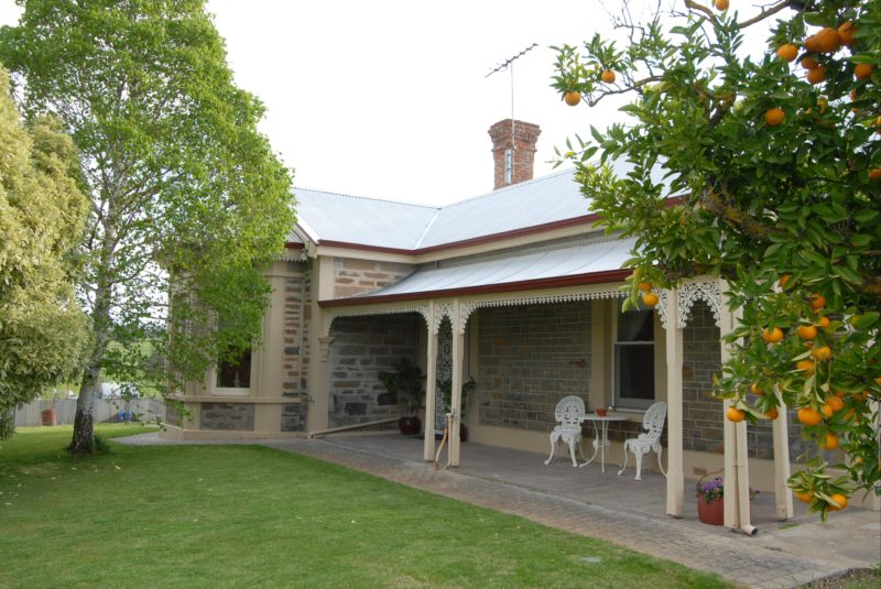 Guest front verandah, ideal for outdoorbreakfasts