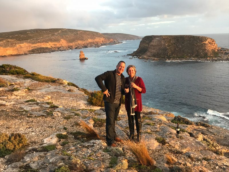 Couple at Lincoln National Park in South Australia