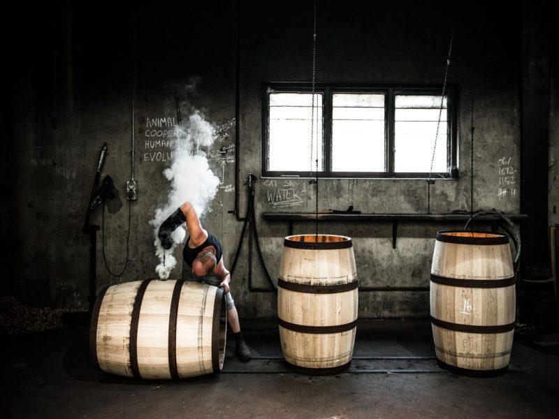 Cooperage - Burning the Barrel Hole