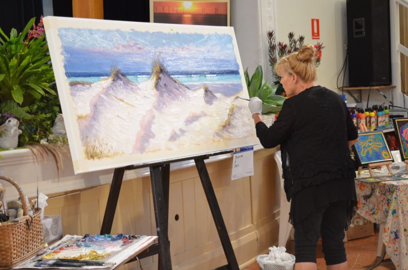 Artist Demonstration by Victoria Rolinski at Yorke Peninsula Art Exhibition