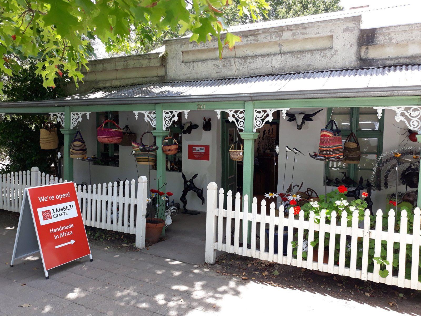 Zambezi Crafts' shop in Hahndorf