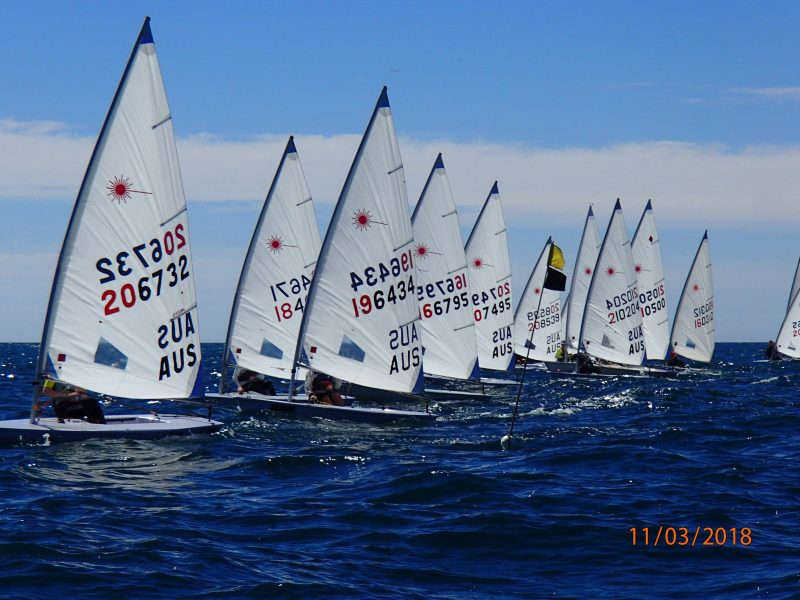 Laser sailing dinghies racing