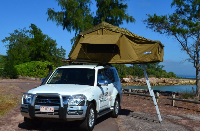 4WD vehicle comes with Roof-Top tent, camping equipment and Unlimited KM.