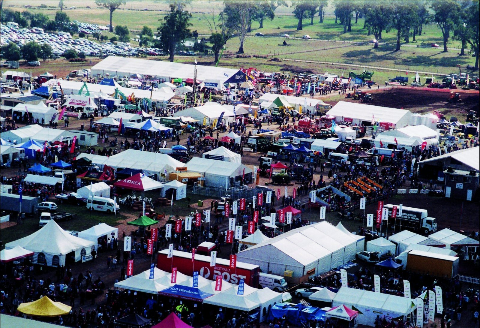 An aerial view of Agfest