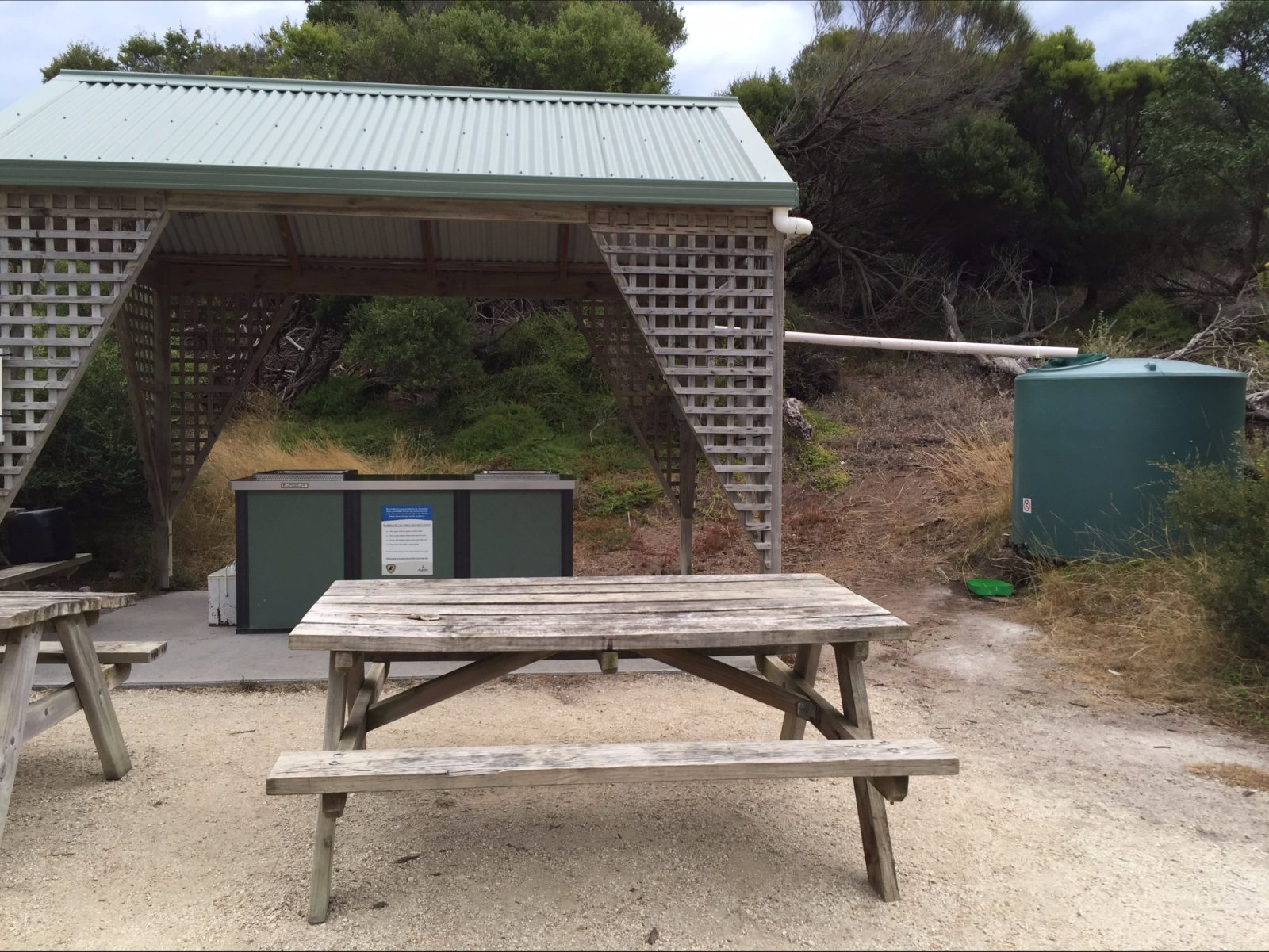 free gas barbecue at Allport Beach Flinders Island Tasmania