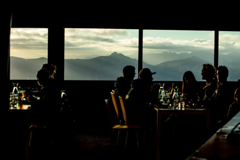 Panoramic views from out dinning room to showcase the wild Tasmanian landscapes.