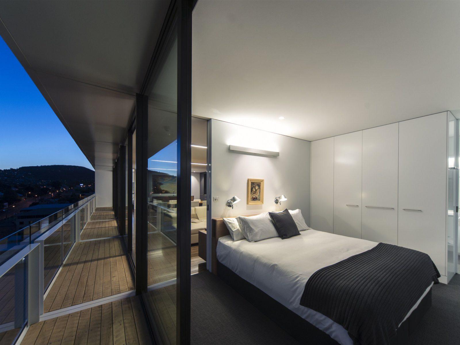 Bedroom at twilight