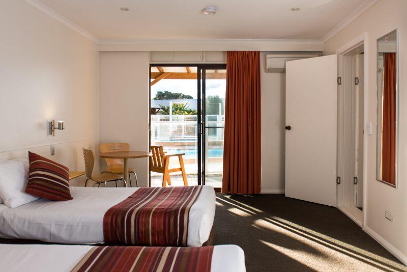 hotel pool side room