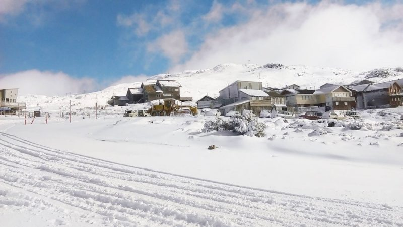 The Ben Lomond village deep in snow during the 2016 season