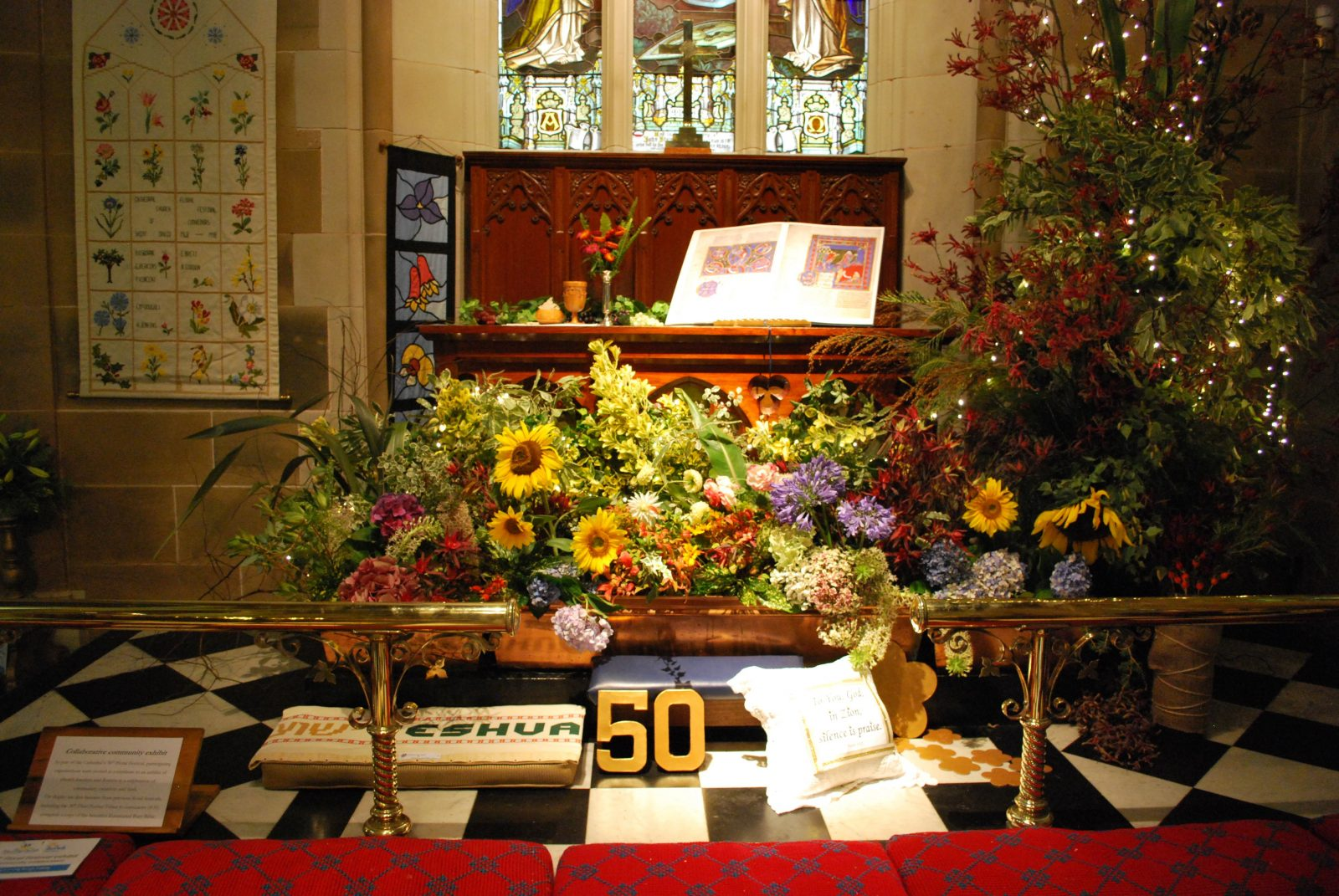 Community exhibit at the 50th floral festival in 2018