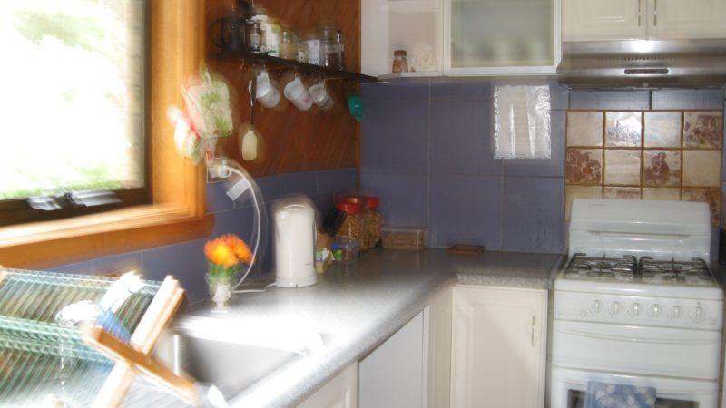 studio apartment kitchen with gas stove