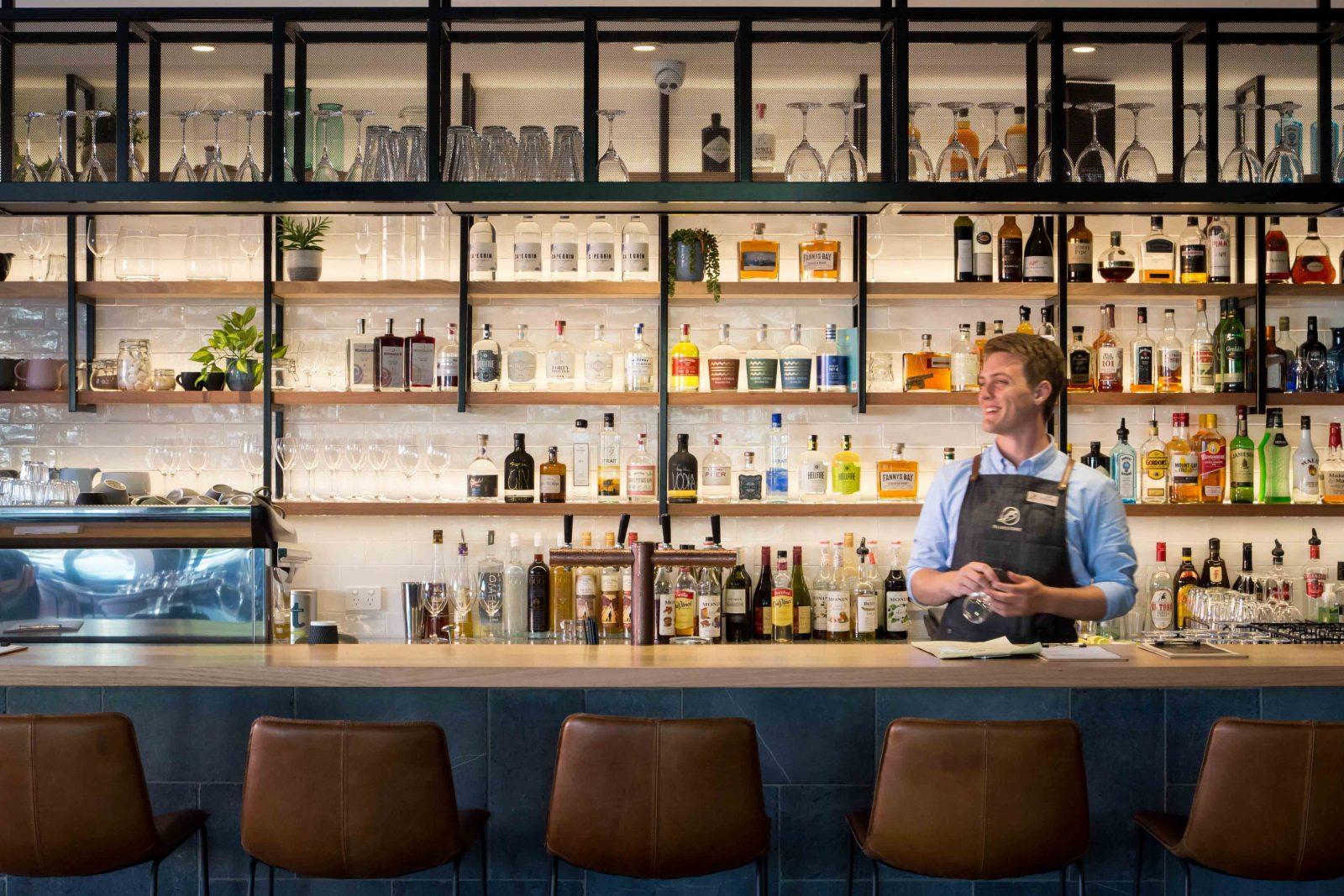 Beautiful bar at Bluestone Bar & Kitchen