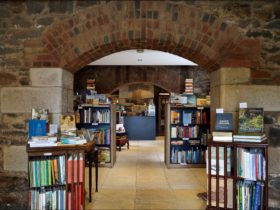 The entrance of The Book Cellar