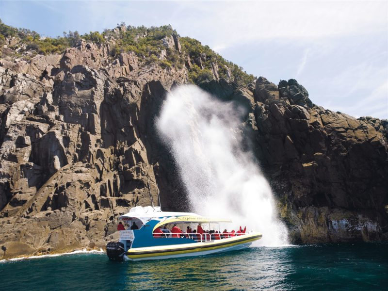 Bruny Island Cruises at Breathing Rock