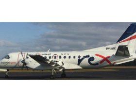 Regional Express Saab 340A at Burnie Airport