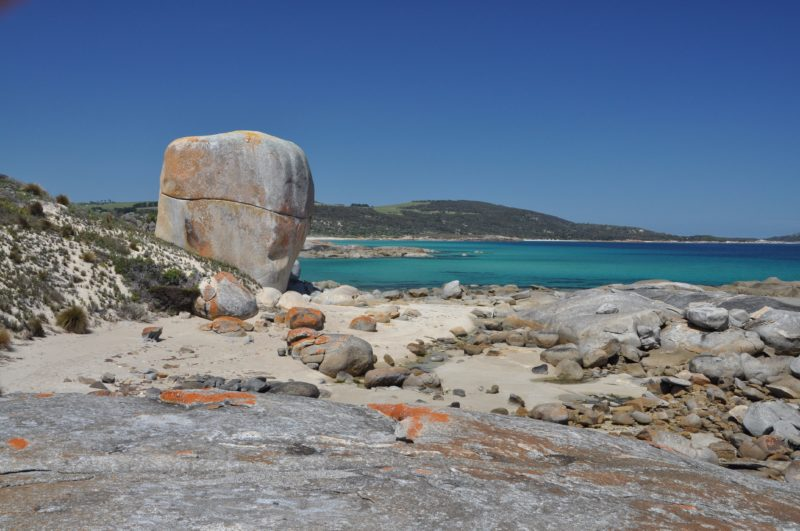 Castle Rock looking towards Settlement Point Flinders Island Tasmania