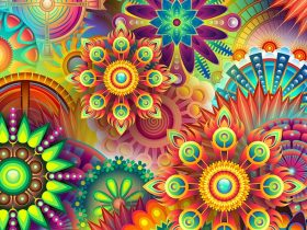 Colourful psychedelic
