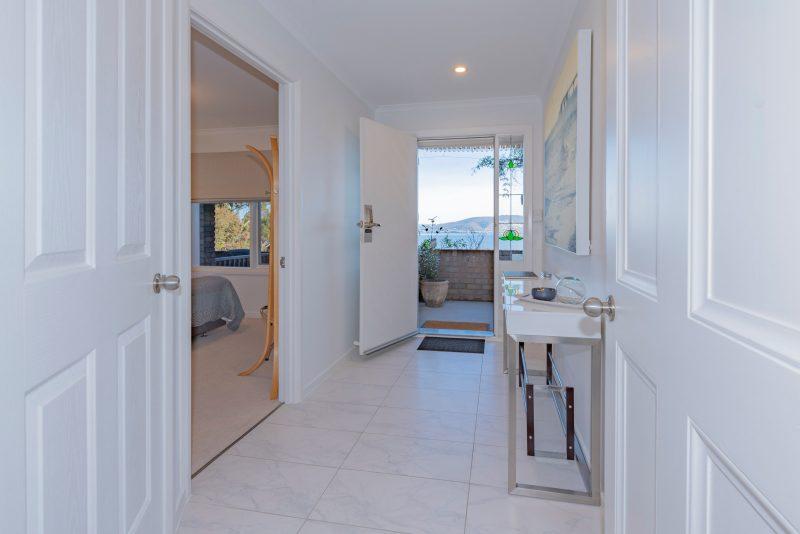 Private entrance & foyer area to Charbella's.