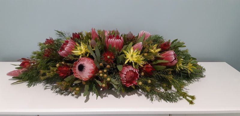 Christmas Table Decoration made at the Campo de Flori farm Glen Huon Tasmania