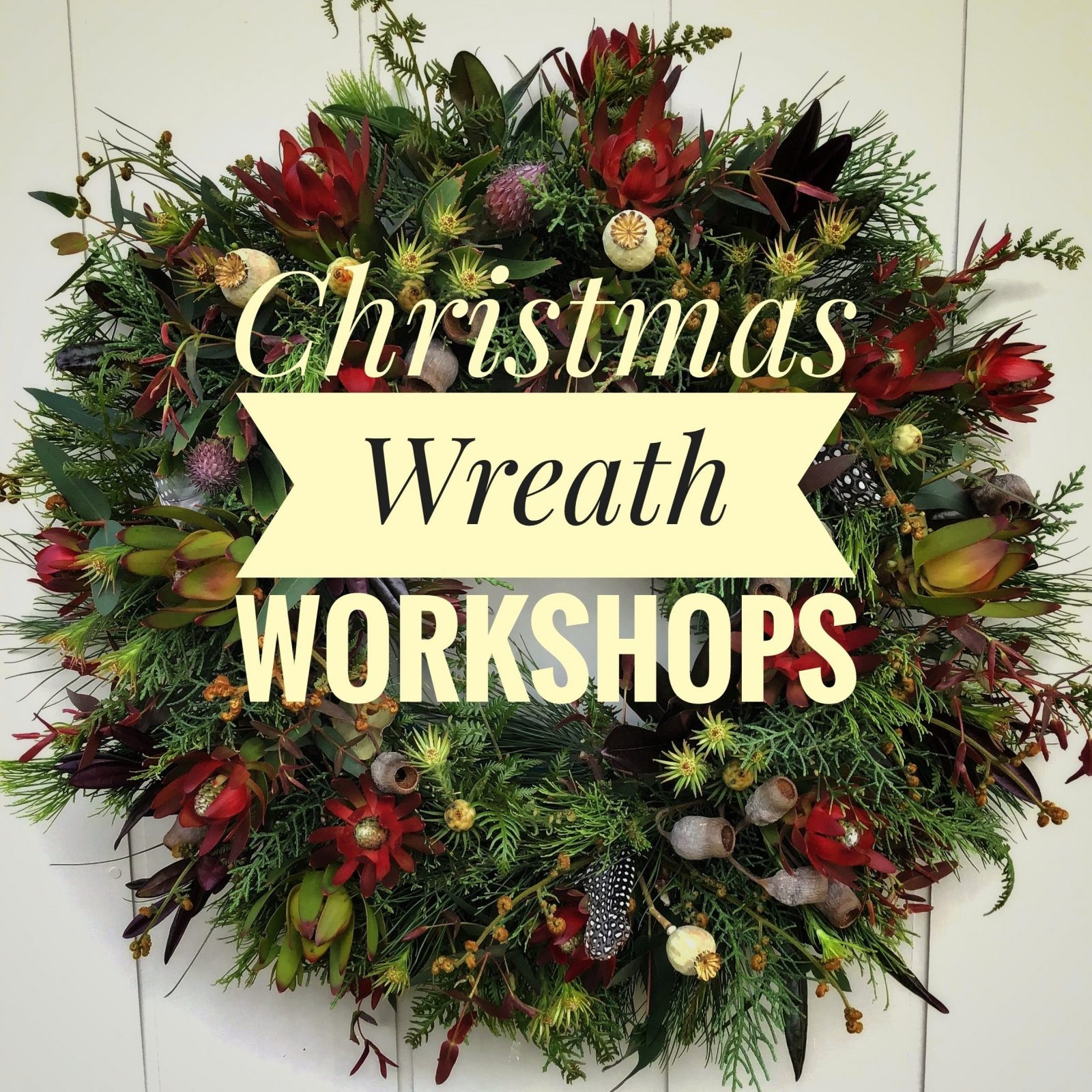 Christmas Wreath Workshop at the Campo de Flori Farm in Glen Huon Tasmania