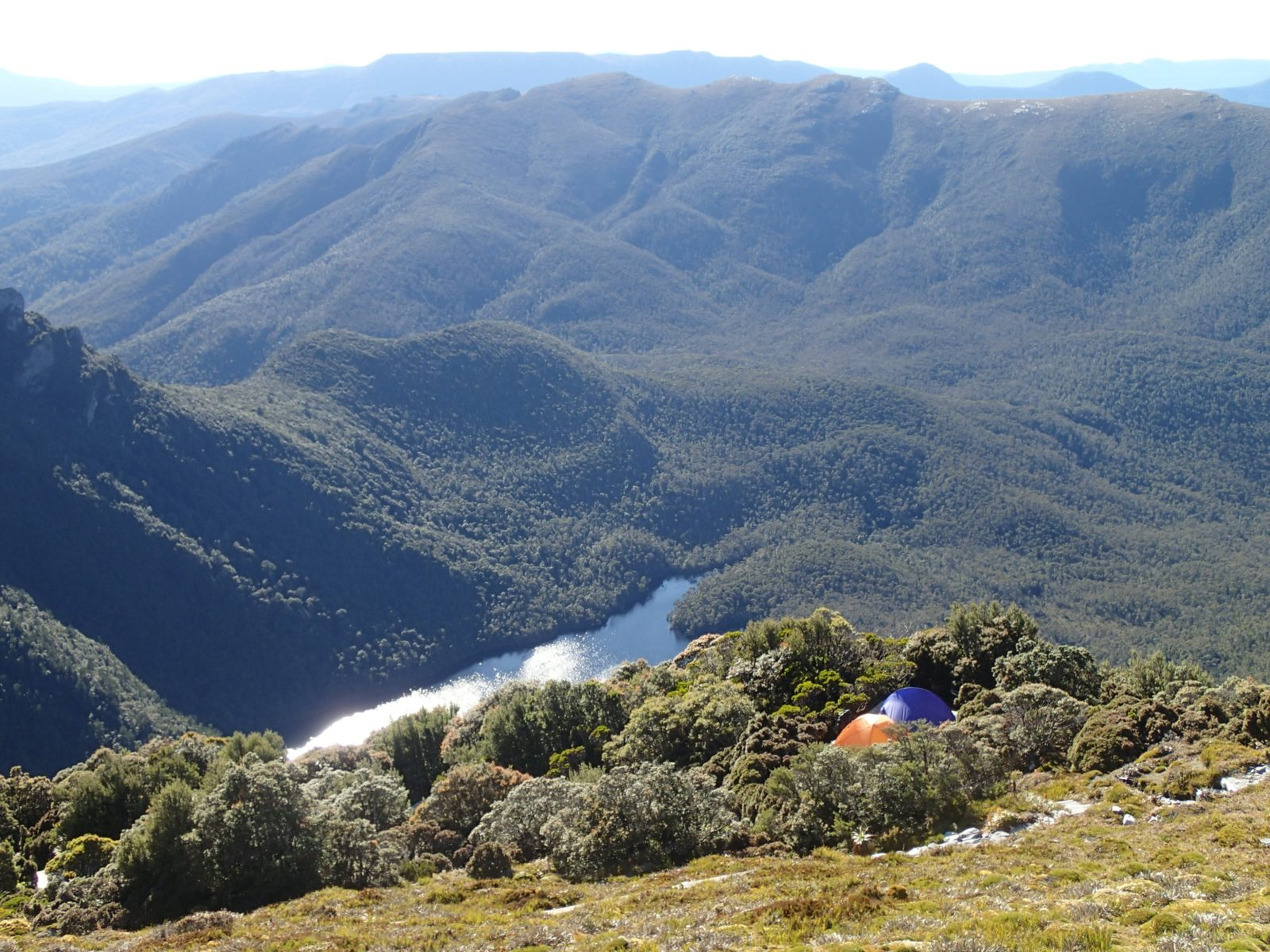 Camping in the Eastern Arthur Ranges, Southwest National Park