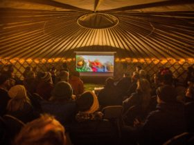 Forest Yurt Cinema at Cradle Mt Film Festival