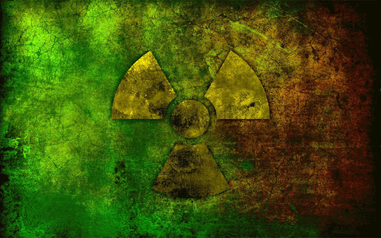 Photo of nuclear symbol