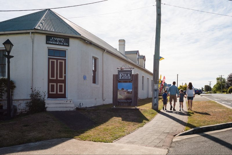 Family outing at Deloraine & Districts Folk Museum