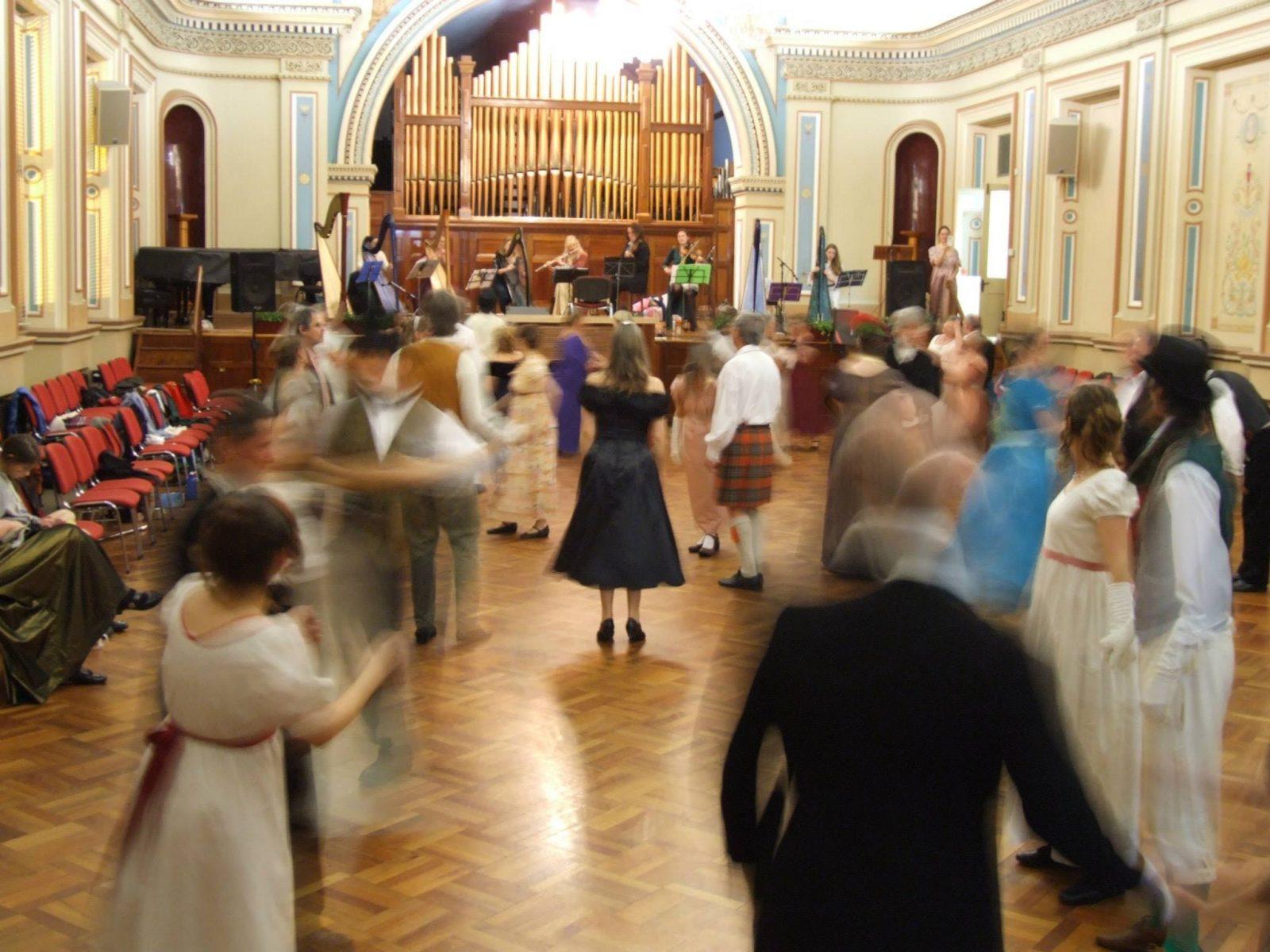 dancers in period costume