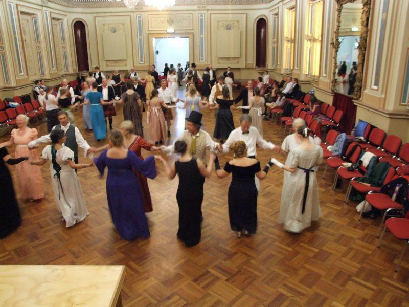 dancers in Regency costume