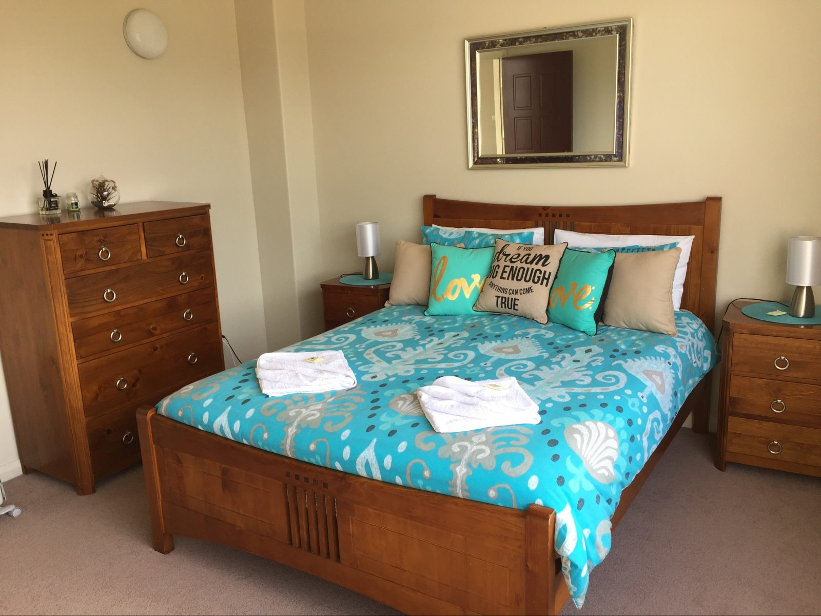 Queen size beds available in our family rooms