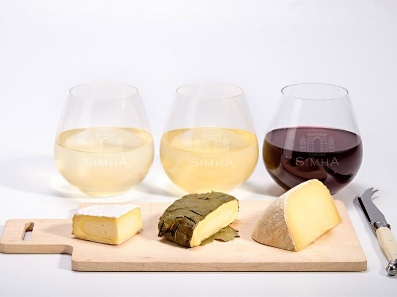 Domaine Simha Tasmania wine and cheese tasting