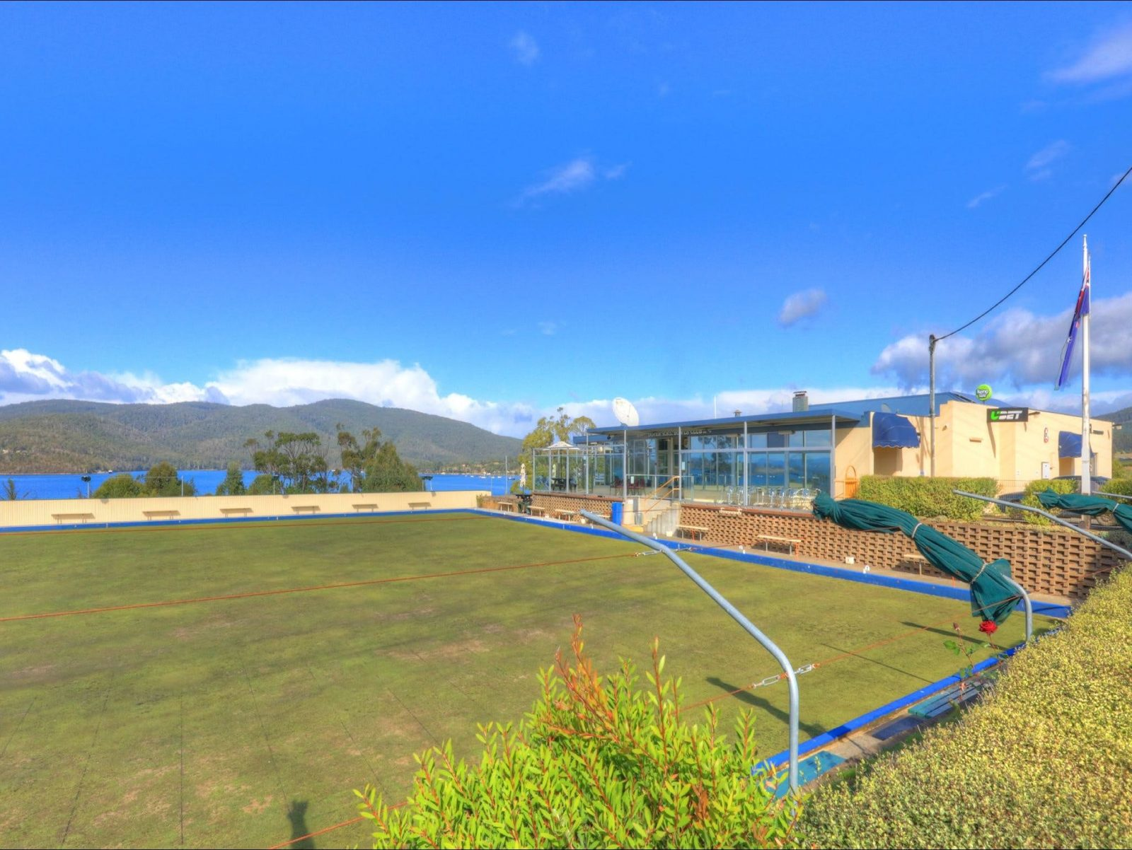 Bayview Dining at Dover RSL Club overlooking Port Esperance Bay and the Lawn Bowling Green