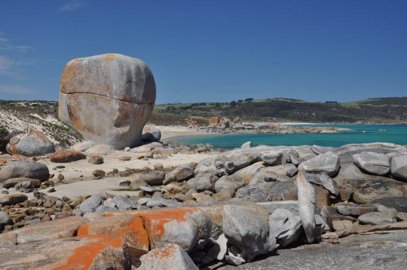 Castle Rock beach walk or drive in via Marshall Bay Flinders Island Tasmania