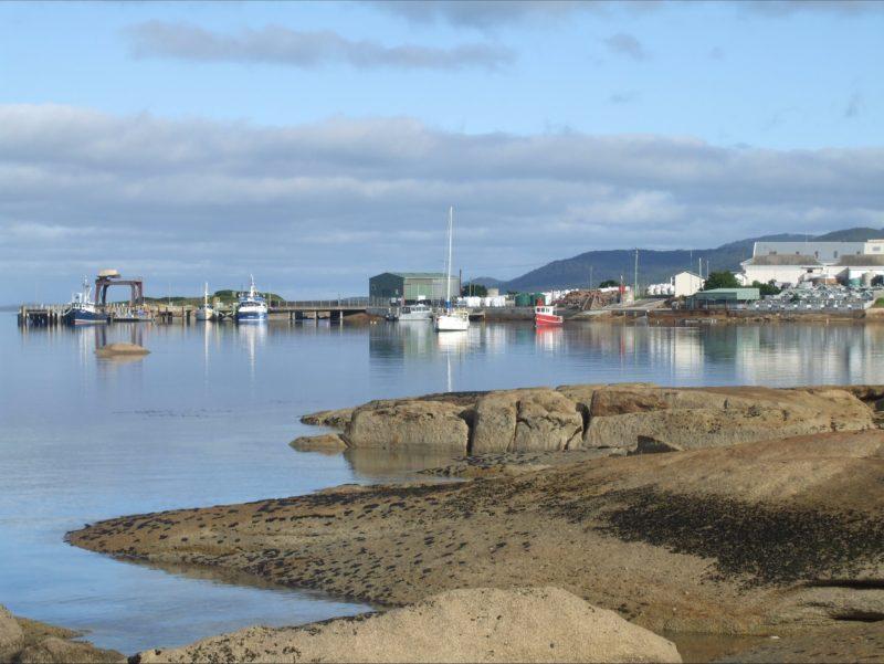 Lady Barron Wharf safe habour Flinders Island
