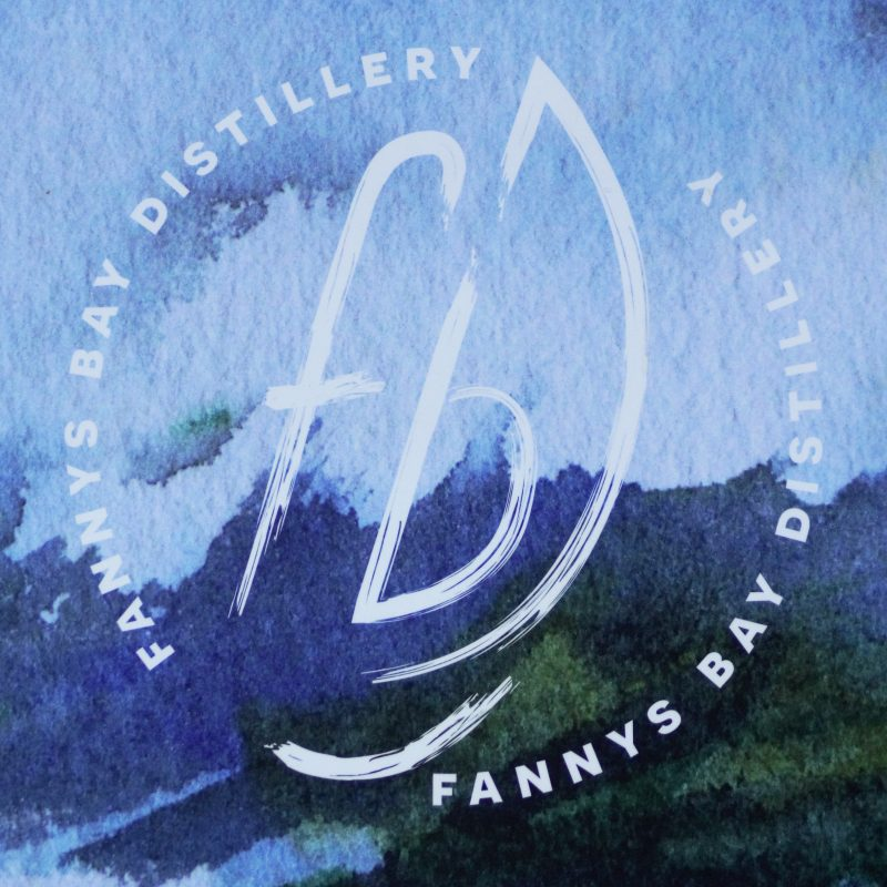 Signage for Fannys Bay Distillery