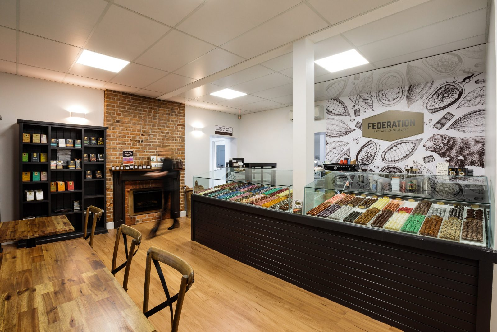 Federation Artisan Chocolate Hobart Shop praline chocolates, bars and chocolate making