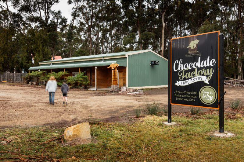 Federation Chocolate is located at Taranna on the Tasman Peninsula on the way to Port Arthur