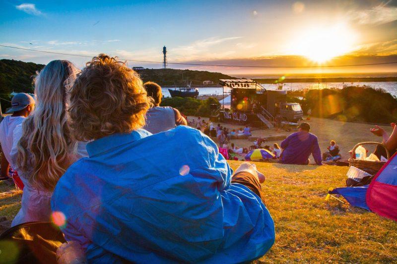 Sunset over FOKI - best festival sunsets!